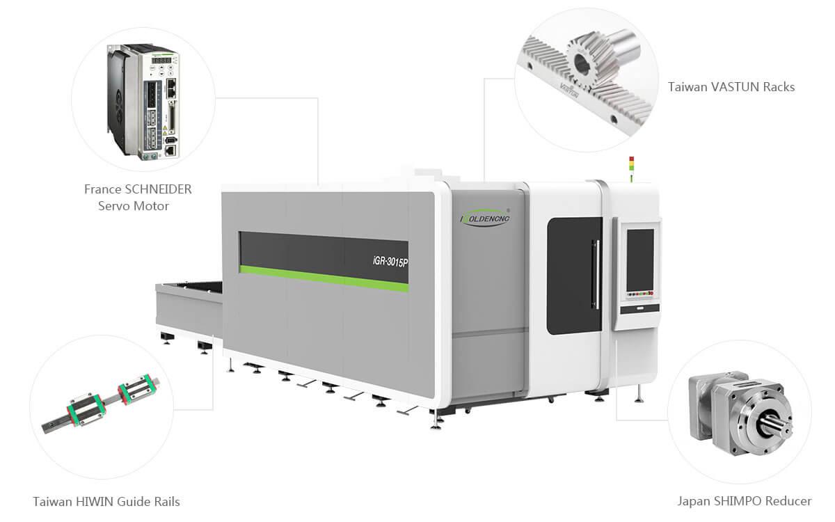 Système de transmission de haute précision pour machine de découpe de feuille laser